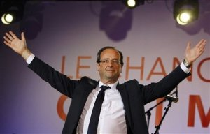 François Hollande after his election in May 
