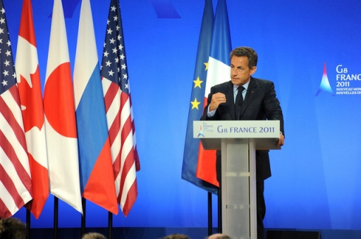 """Former President Nicolas Sarkozy is one of those featured on the """"Wall of Jerks.""""  Photo: Flickr.com/Guillaume Paumier"""