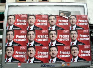 Front de Gauche Official electoral posters, picturing Jean-Luc Mélenchon. Credits: Flickr, t_bartherote