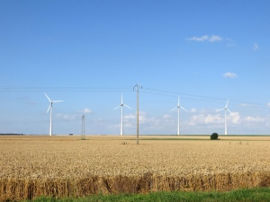 Wind Turbines in Somme, Picardie, France. 