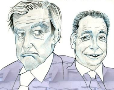 François Fillon and Jean-François Copé.By Staff Political Cartoonist Justin Walker.