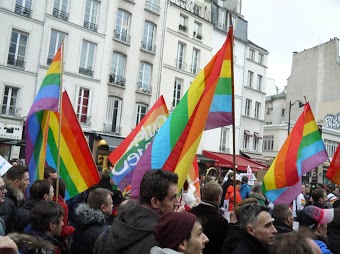 Gay marriage rally. Paris, December 16.  Photo: Pauline Proffit for La Jeune Politique.