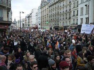 Gay marraige rally. Paris, December 16. Photo: Pauline Proffit for La Jeune Politique.