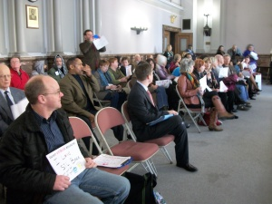 Crowd at the Estimate and Apportionment meeting on January 16 at St. Louis City Hall. Photo: Kat Logan Smith