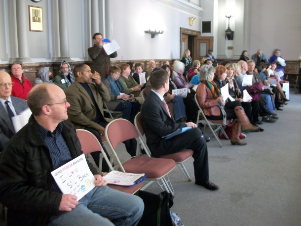 Crowd at the Estimate and Apportionment meeting on January 16 at St. Louis City Hall.Photo: Kat Logan Smith