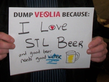 Dump Veolia Protest SignPhoto: Kat Logan Smith