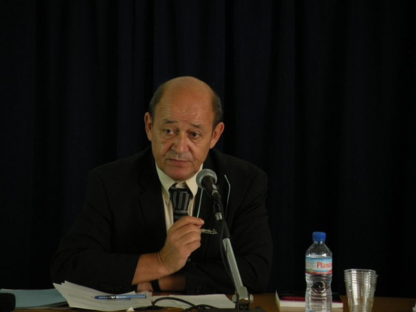 French Defense Minister Jean-Yves Le Drian. Photo: Flickr.com/Mypouss