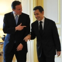 Prime Minister Cameron and former President Sarkozy enjoying a friendly momentPhoto:  flickr.com/conservativeparty