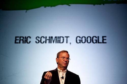 Google CEO Eric Schmidt. Photo: Flickr.com/Tech Crunch. Photo by Dave Getzschman
