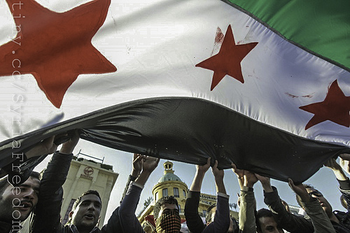 Syrian Opposition Flag.Photo: Flickr.com/FreedomHouse2