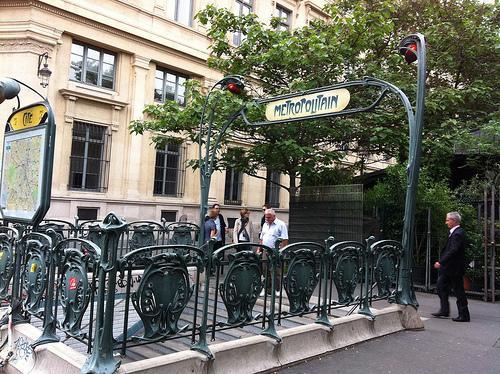 Paris Metro stopPhoto: Flickr.com/andynash