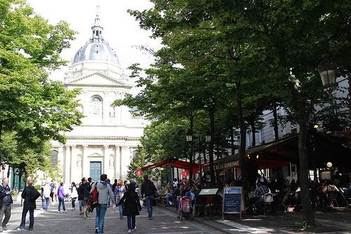 The main square before the Sorbonne, Paris. Photo: georgemoga