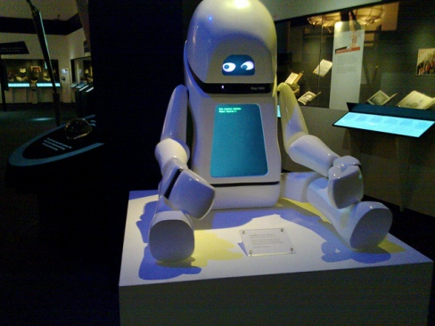 Robot on display at a Science Fiction exhibit at the British Library. Photo: Flickr.com/BadgerGravling