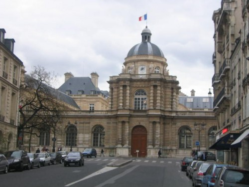The entrance to the French Senate in the Palais du Luxembourg. Photo: Wikimedia Commons, Stephan Bøgh-Andersen