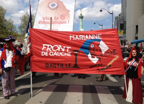 Protesters at the Front de Gauche rally on Sunday. Photo: Eleni Zaras