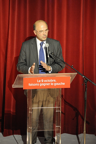 Meeting Pierre Moscovici au ThŽatre Alhambra-26-09-2011