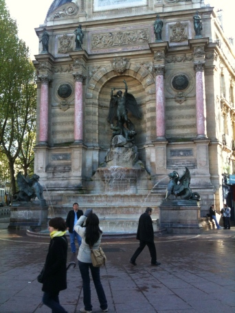 Place Saint Michel, where one of the largest demonstrations took place. Photo: Olga Symeonoglou