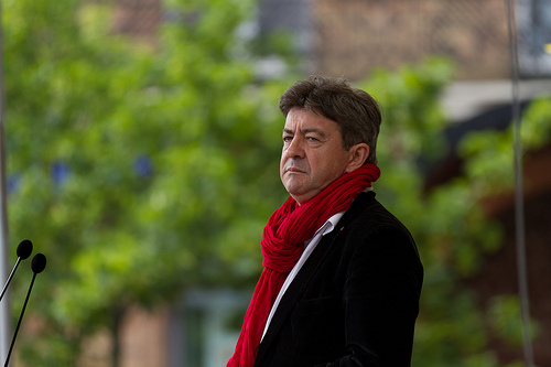 Jean-Luc Mélenchon, above, has accused Marine Le Pen's Front national of maintaining links to right -wing extremist groups like the one blamed for Clement Meric's death. Photo: Pierre-Selim.