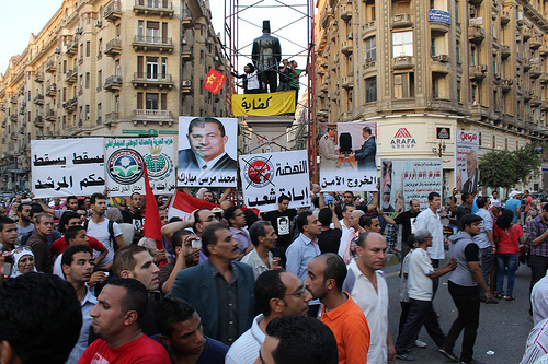 An anti-Morsi protest breaks out in downtown Cairo, capital city of a politically troubled nation. Photo: Gigi Ibrahim for flickr.