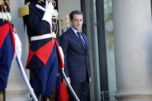 Former President Nicolas Sarkozy while in office. Photo: Antonis Samaras for flickr.