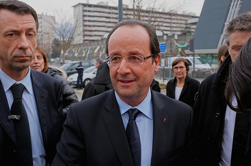 President Hollande's approval ratings have risen slightly of late.  Photo: Studiotobago for flickr.