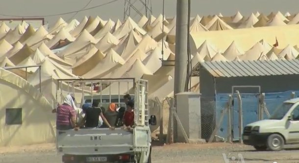 A Syrian refugee camp on the Turkish border. Photo: Wikimedia Commons/Guest2625