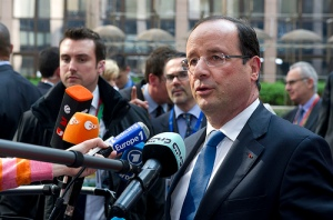 Action Shot of Hollande in Questioning Photo: http://flickr.com/photos/europeancouncil