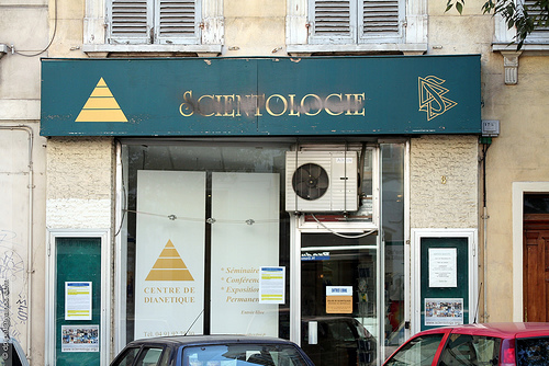 "A ""dianetics"" center of the Church of Scientology in Marseilles. Photo: Dominique Pipet for flickr."