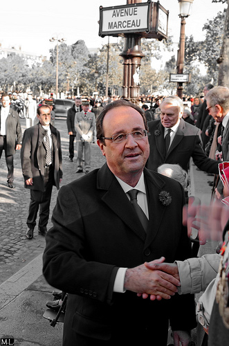 Hollande was jeered at the annual Armistice Day commemoration. Photo: Zygonyx for flickr.