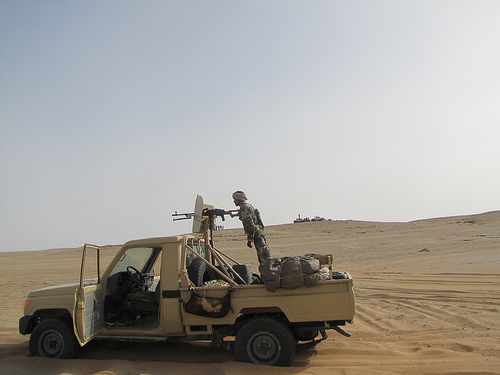 Government forces patrol the northern desert region of Niger, where the four men were kidnapped. Photo:   Magharebia for flickr.