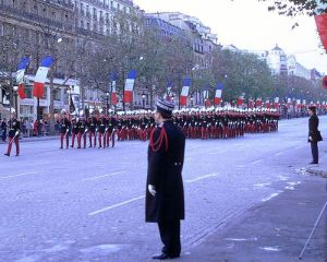 The Armistice Day parade in Paris. Photo: RobW_