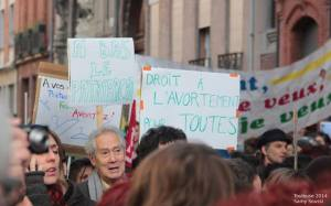 A protest against the new Spanish law on January 9, in Toulouse.  Photo: Samy Soussi