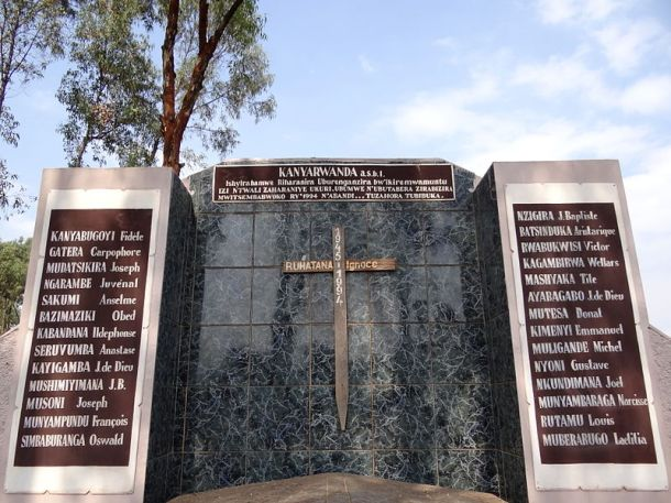 The Nyanza Genocide Memorial Site, a monument over a mass grave, in the Kicukiro District of Kigali, Rwanda. Photo: Adam Jones for Wikimedia Commons.