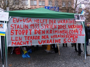 A demonstration about Ukraine in Munich, Germany.  Photo: Flickr.com/ blu-news.org