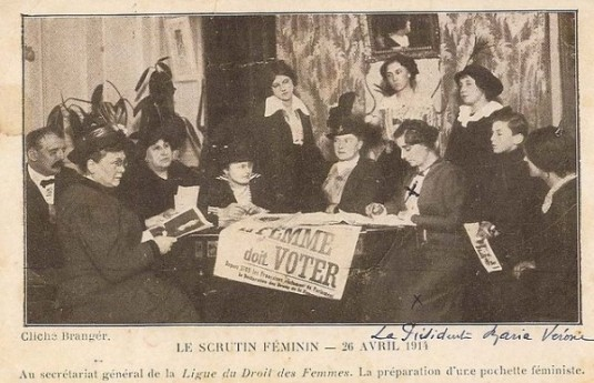 Reunion of the French League for Women's Rights, April 1914. Photo: Lebreton32 for Wikimedia Commons