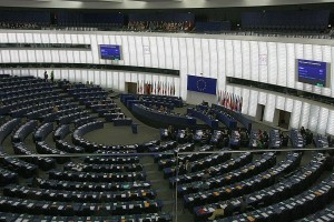 EU Parliament chamber in Strasbourg, France. Photo: jeffowenphotos for Wikimedia Commons