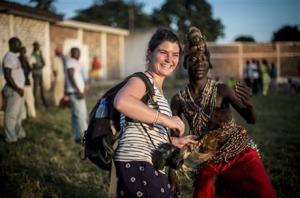 Camille Lepage in October 2013 in Bangui, Central African Republic. Photo AP Photo/Sylvain Cherkaoui