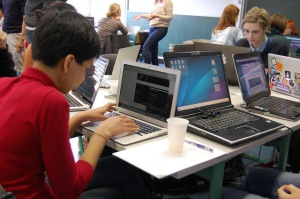 Students learn computer programming at a school Berlin, Germany. Photo: CayCee for flickr.
