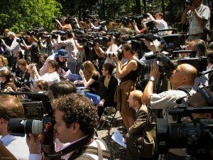 Media in Central Park, New York City.  Photo: Flickr.com/Ernst Moeksis